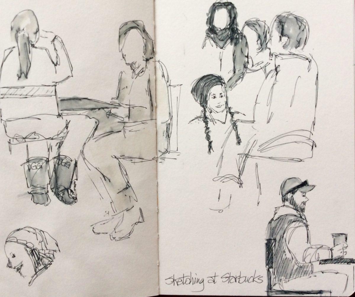Sketching People at Starbucks