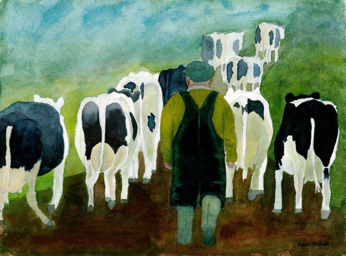 Farmer & Cows